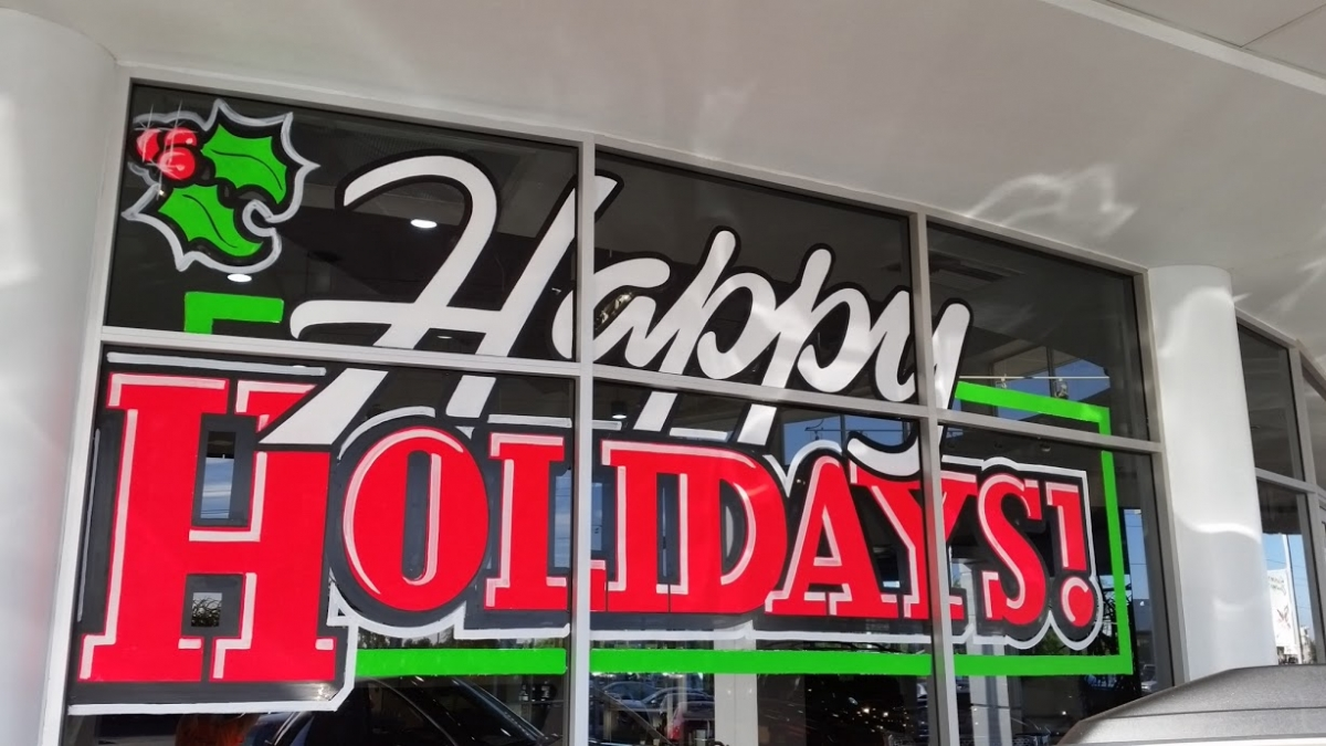 Christmas window painting decorations - Click Here To Request A Quote