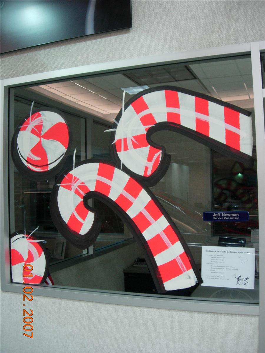 Christmas window painting decorations - Holiday Window Painting
